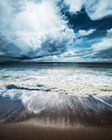 bad weather: Sea weather. Tropical hurricane cyclone Stock Photo