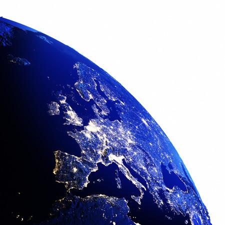 europe: Europe map white isolated.