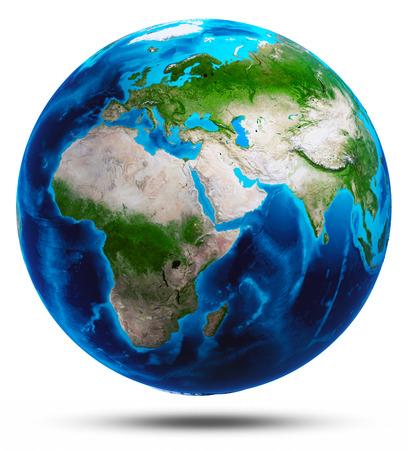 Planet Earth Weiß getrennt. Elemente dieses Bildes von der NASA eingerichtet