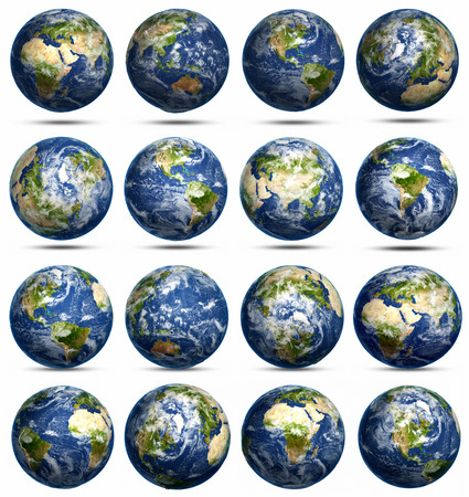 south space: Planet Earth icons set. Elements of this image furnished by NASA