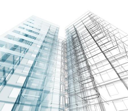 Résumé bâtiment. Conception de l'architecture et de mon propre modèle Banque d'images - 40228505