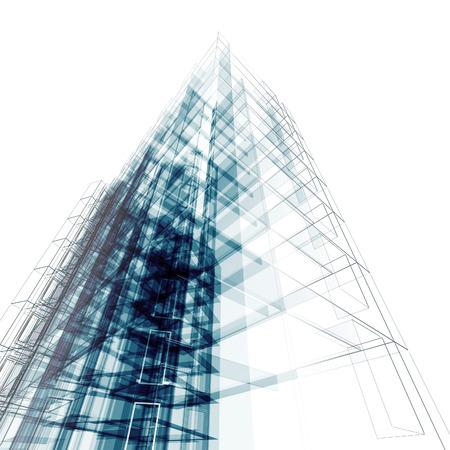 arquitectura abstracta: Configuraci�n abstracta. Arquitectura y dise�o de modelo de mi propia Foto de archivo
