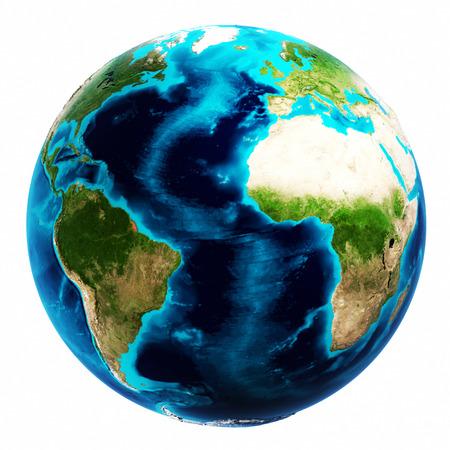 地球地図白分離します。NASA から提供されたこのイメージの要素