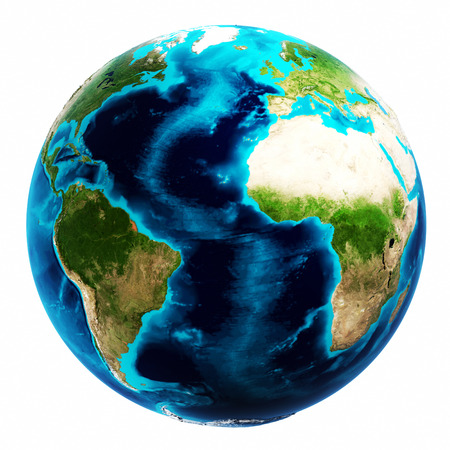 Earth map white isolated. Elements of this image furnished by NASA