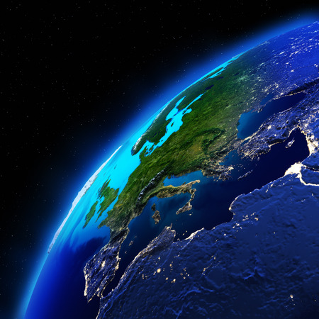world wide: Planet Earth. Elements of this image furnished by NASA Stock Photo