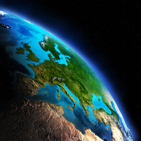 south space: Earth continent. Elements of this image furnished by NASA Stock Photo