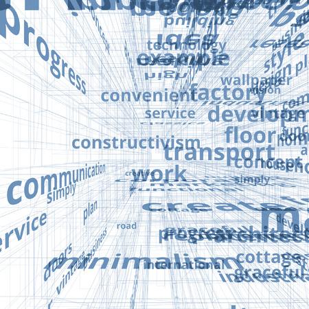 communication concept: Concept text communication. Innovation model Stock Photo