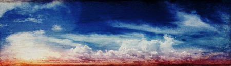 Colorful sky and sunrise. Canvas vintage background Stock Photo