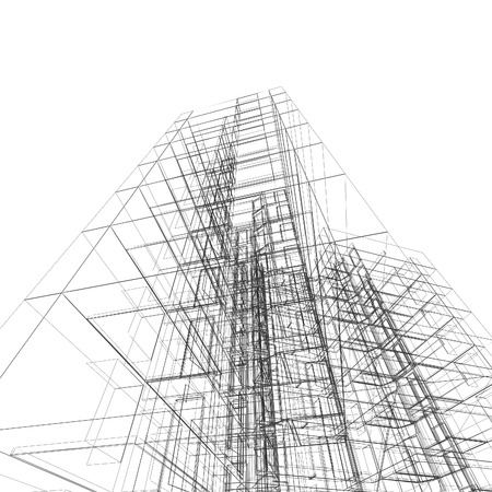 building structures: Construction architecture.  Stock Photo