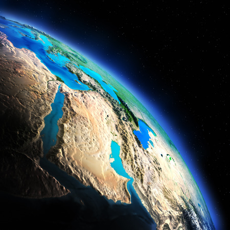 south space: Earth from space. Stock Photo