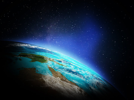 World from space. Elements of this image furnished by NASA