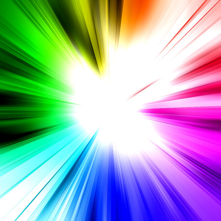 architecture design: Abstract rainbow ray. Architecture design and model my own Stock Photo
