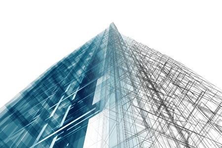 Architectuur. Architectuur ontwerp en model mijn eigen Stockfoto