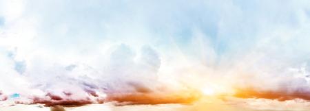 Art summer background. Tropical sunrise