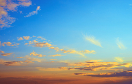 stratosphere: Sky atmosphere clear clouds Stock Photo