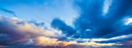 Sky and clouds beautiful summer nature background Stock Photo