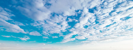 Sky and clouds beautiful summer Stock Photo