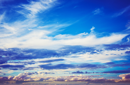 Cloudy sky weather panorama background. Summer shot Stock Photo