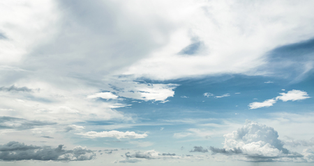Summer tropical sky and clouds. Outdoor panorama