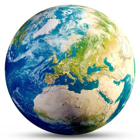 Planeta Ziemia - Europa. Zdjęcie Seryjne