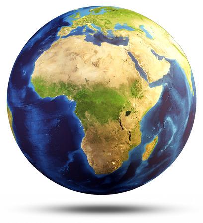 Earth bol kaart. Elementen van deze afbeelding geleverd door NASA. 3D-rendering