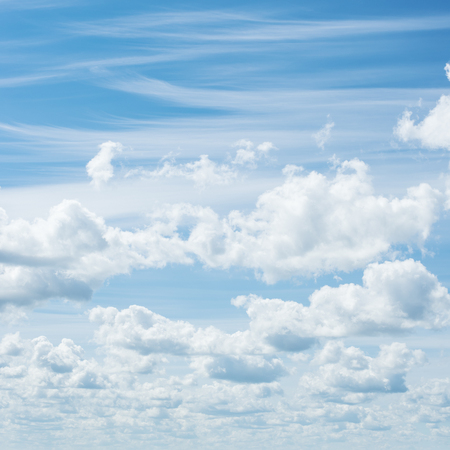Blue sky and clouds. Summer air background
