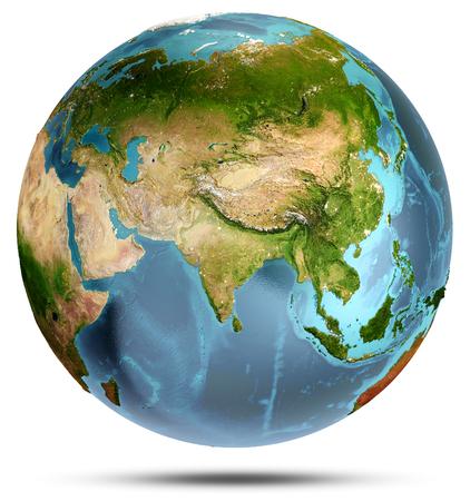 Planeet aarde. Elementen van deze afbeelding geleverd door NASA. 3D-weergave Stockfoto