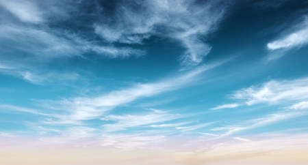 Clear blue sky and white clouds summer background