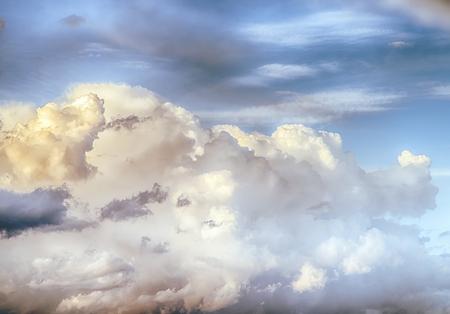 Sky clouds art sunrise background. Summer wallpaper Banco de Imagens