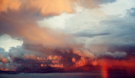 Hurricane sky storm weather. Clouds atmosphere background