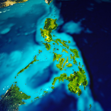 Philippines islands map.  3d rendering