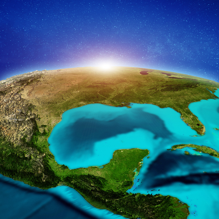 United States and Mexico.  3d rendering Stock Photo