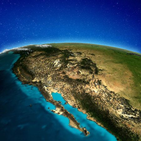 West coast America background.   3d rendering Banco de Imagens