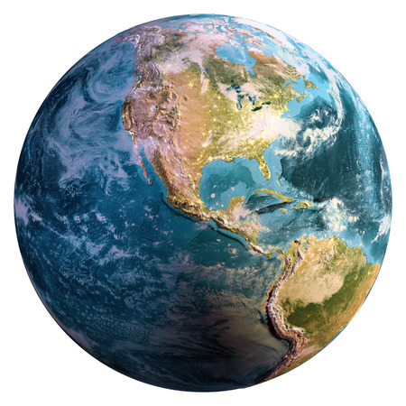 Planet Earth isolated.  3d rendering