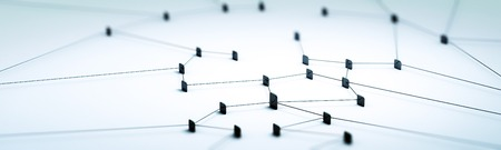 Connection concept digital technology network panorama 3d rendering