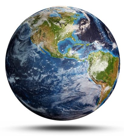 Planet Earth cyclone. 3d rendering Stock fotó - 118762361