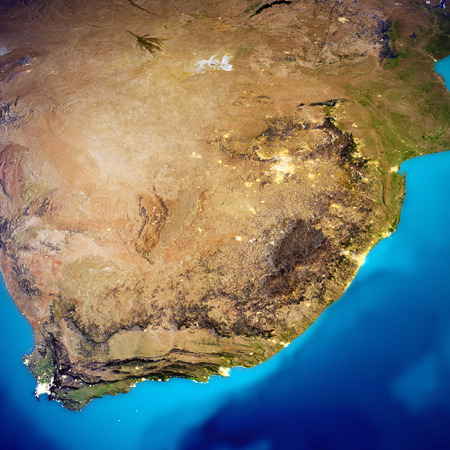 South Africa map. 3d rendering Standard-Bild