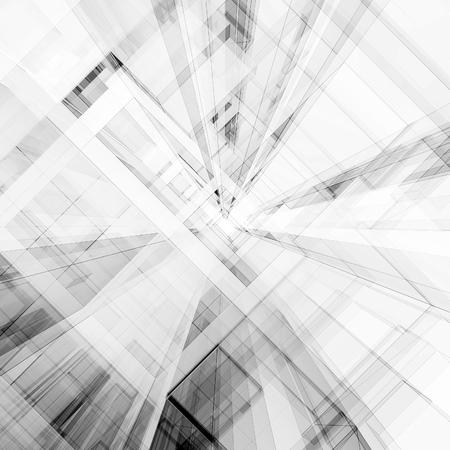 Abstrakte Architektur. Konzeptansicht Hintergrund 3D-Rendering