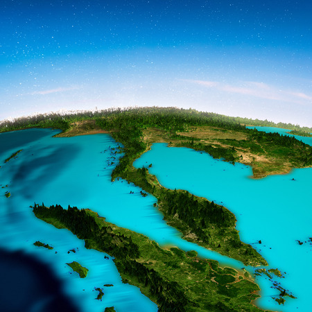South-east Asia background. 3d rendering