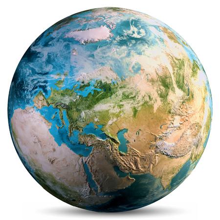 Monde de la planète Terre.