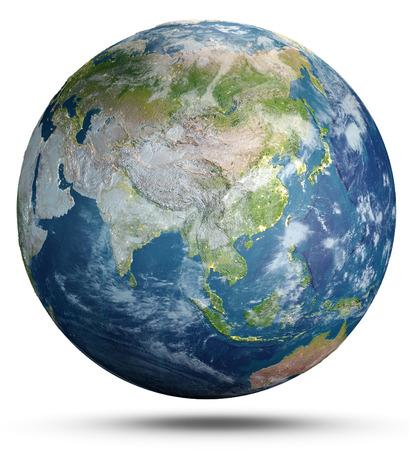El clima del planeta Tierra. Representación 3d