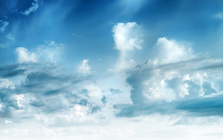 Sky clouds art sunrise background. Summer wallpaper Stock Photo