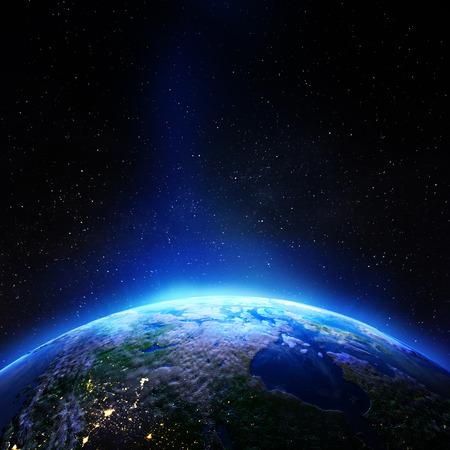 Étoiles de la galaxie du Canada. rendu 3D