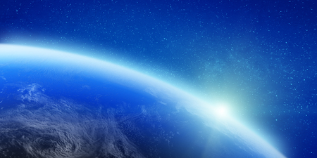Stars and clouds. Elements of this image furnished by NASA. 3d rendering
