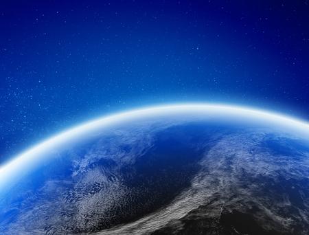 Aarde klimaat vanuit de ruimte.
