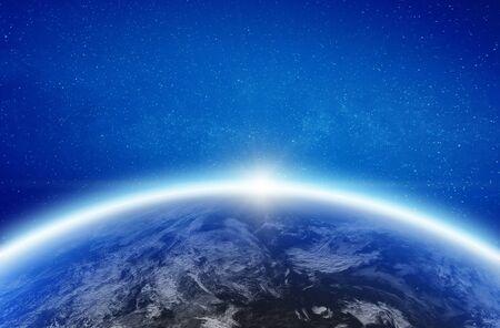 Planeta Tierra desde el espacio. Foto de archivo