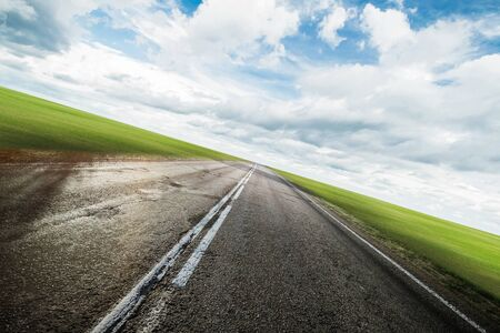 Clear highway road outdoor background