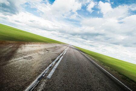 Fond extérieur clair de route d'autoroute