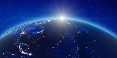 South-east Asia from space. Reklamní fotografie
