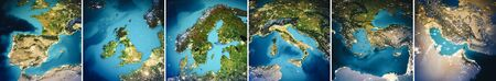 Planet Earth Europe map set.